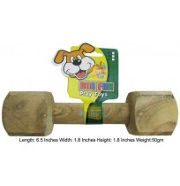 Super Dog Dog Toy Wooden Dumbbell Small