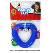 Super Dog Dog Toys Rubber Paw Printed Triangular Ring Medium