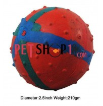 Super Dog Tri Color Solid Rubber Ball Small