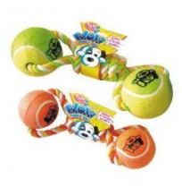 Pets Brand Dog Toy Wow Tennis Dumbbell Large