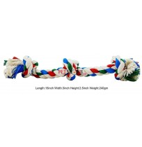Super Dog Dog Toys Three Knotted Cotton Rope Toy Small