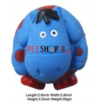 Super Dog Dog Toy Ball Shaped Blue Hippo Squeaky