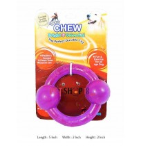 Super Dog Transparent Rubber Ring With Two Balls