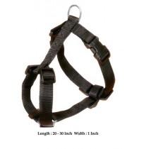 Trixie Adjustable Harness Nylon Strap Black M-L