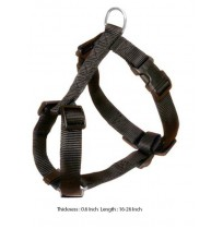 Trixie Adjustable Harness Nylon Strap Black S-M
