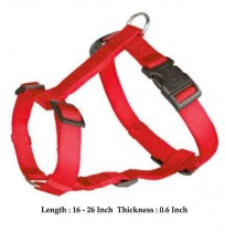 Trixie Adjustable Harness Nylon Strap Red M-L