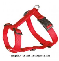 Trixie Adjustable Harness Nylon Strap Red S-M