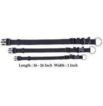 Trixie Adjustable Nylon Strap Collar Black L-XL