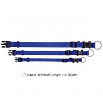Trixie Adjustable Nylon Strap Collar  Blue L-XL