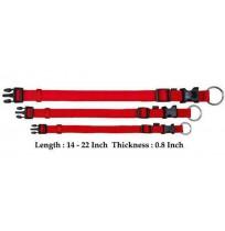 Trixie Adjustable Nylon Strap Collar Red M-L
