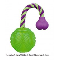 Trixie Ball On A Rope Thermoplastic Rubber Toy