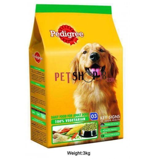 pedigree adult 100 vegetarian 3kg   dog   buy at