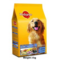 Pedigree Adult Chicken And Veg 3kg