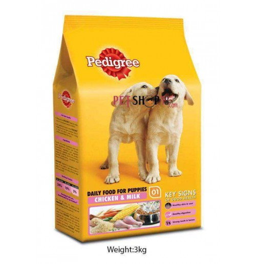 Pedigree Puppy Food Chicken And Milk 3 Kg