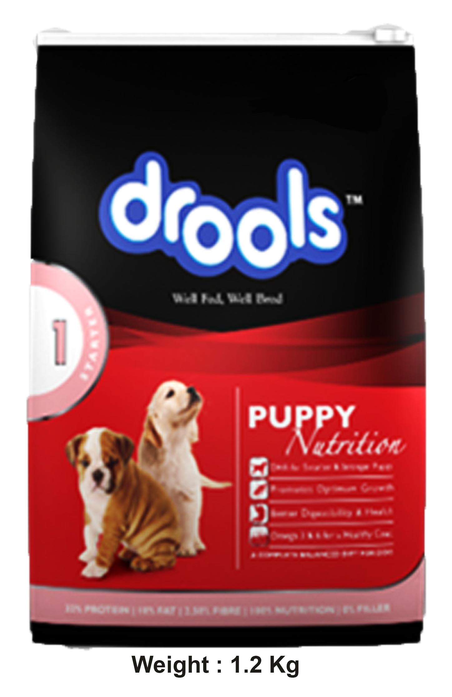 Drools Puppy Food 100% Vegetarian 3kg - Dog - buy at ...