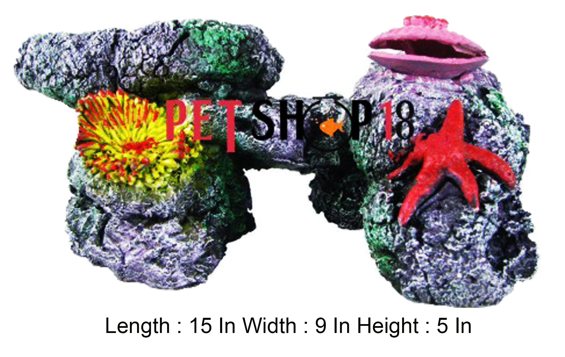 Fish aquarium online delhi - Colorful Coral With Star Fish And Shell Aquarium Toy
