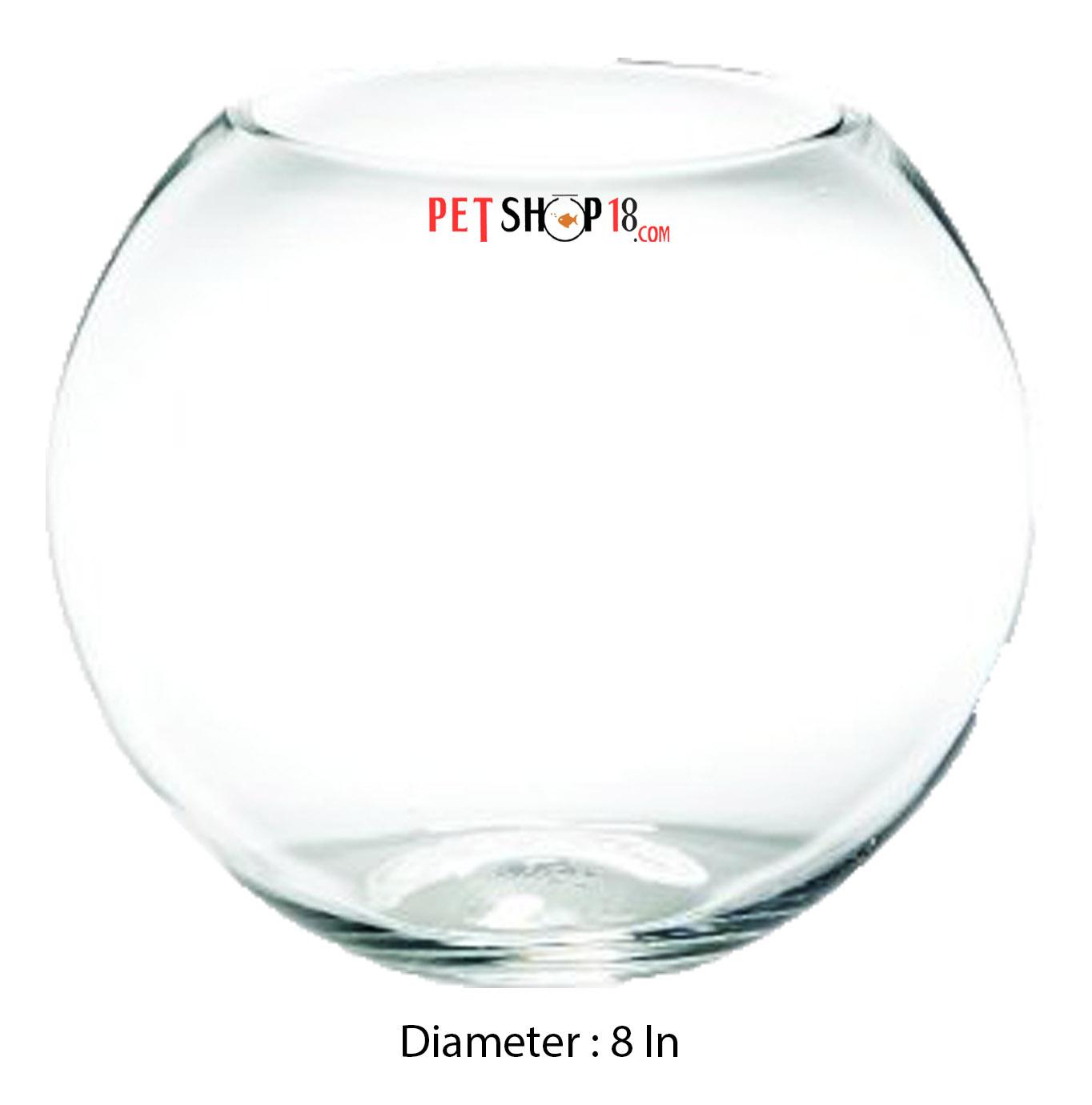 Fish aquarium in karnal - Glass Fish Bowl 8 In