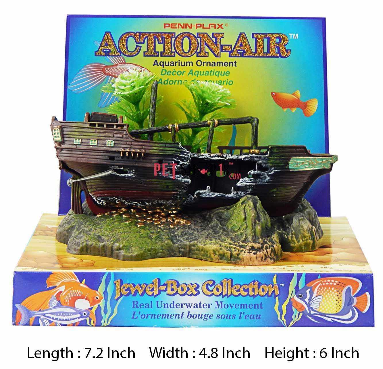 Fish aquarium in karnal - Broken Ship With Tree Aquarium Toy