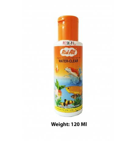 Rid All Fishes Med and Supplements Water Clear 120 Ml