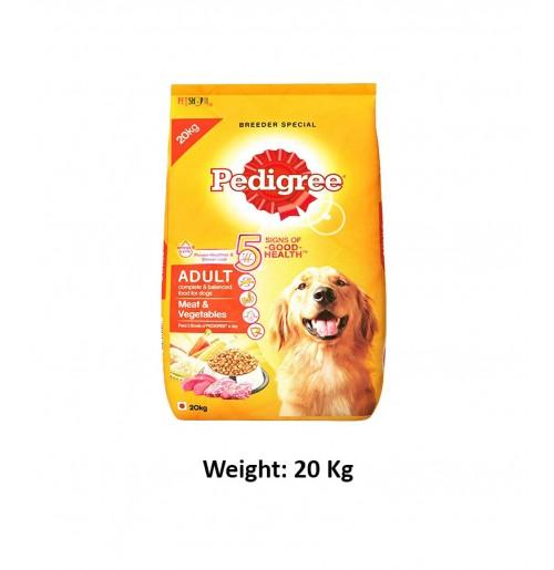 Pedigree Adult Dog Food Meat And Vegetables 20 Kg