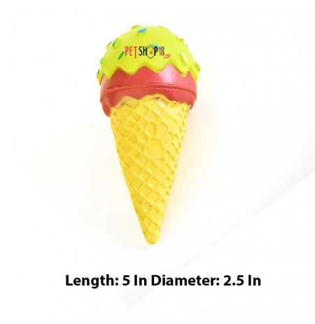 Super Dog Dog Toys Ice Cream Shaped Squeaky Rubber Toy