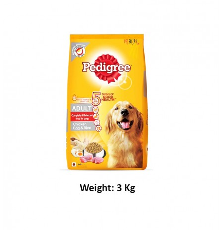 Pedigree Adult Chicken Egg And Rice 3 Kg