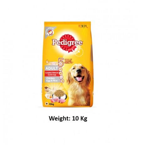 Pedigree Adult Dog Food Chicken Egg And Rice 10 Kg