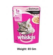 Whiskas Cat Treat Salmon In Gravy 85 Gm
