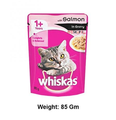 Whiskas Cat Food Salmon In Gravy 85 Gm