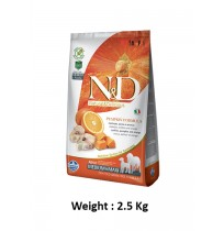 Natural And Delicious Dog Food Pumpkin Codfish And Orange Grain Free Medium And Maxi Adult 2.5 Kg