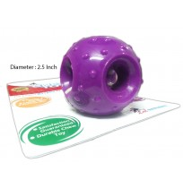 Super Dog Toys Rubber Hole Ball Small