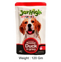 Jerhigh Dog Treats Roasted Duck In Gravy 120 Gm