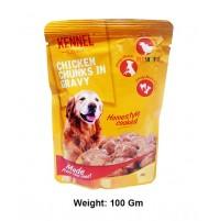 Kennel Kitchen Dog Treats Chicken Chunks In Gravy Pouch 100 Gm