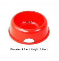 Super Dog Pet Feeding Plastic Bowl Small