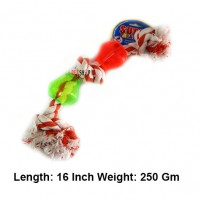 Super Dog Toys Three Knotted Rope With Two Treat Pods