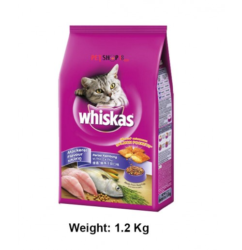 Whiskas Cat Food Mackerel Flavour 1.2 Kg