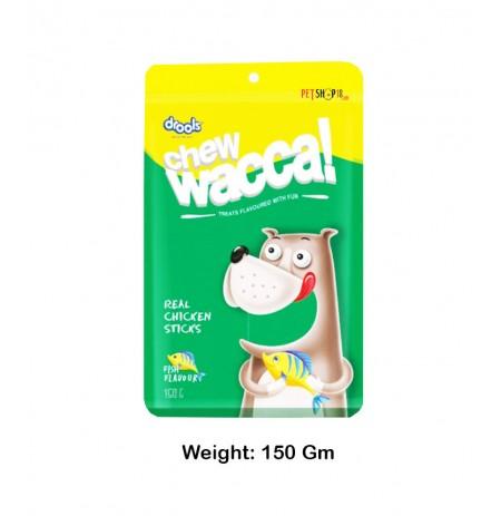 Drools Dog Treats Chew Wacca Real Chicken Sticks Fish Flavor 150 Gm