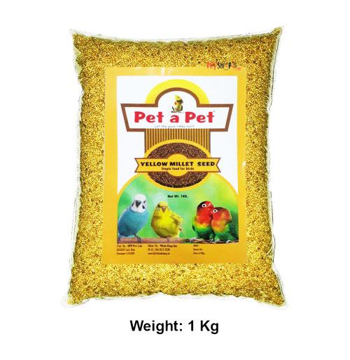 Pet A Pet Birds Food & Treats Yellow Millet Seeds 1 Kg
