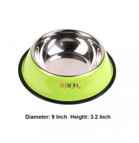 Super Dog Colorful Steel Dog Feeding Bowl Size 04
