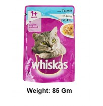 Whiskas Cat Treat Tuna In Jelly Pouch 85 Gm