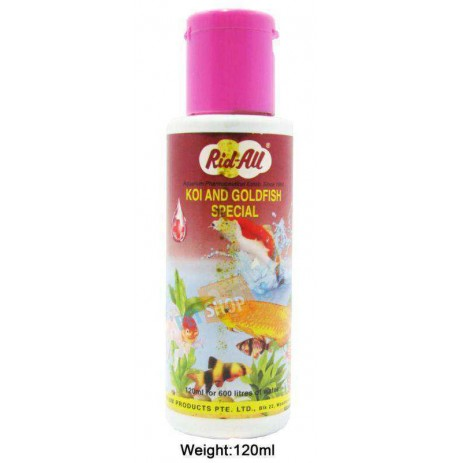 Rid All Fishes Med and Supplements Koi And Goldfish Special 120ml