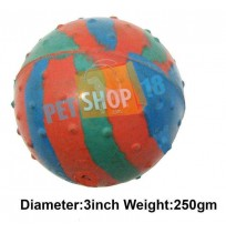 Super Dog Tri Color Solid Rubber Ball Large